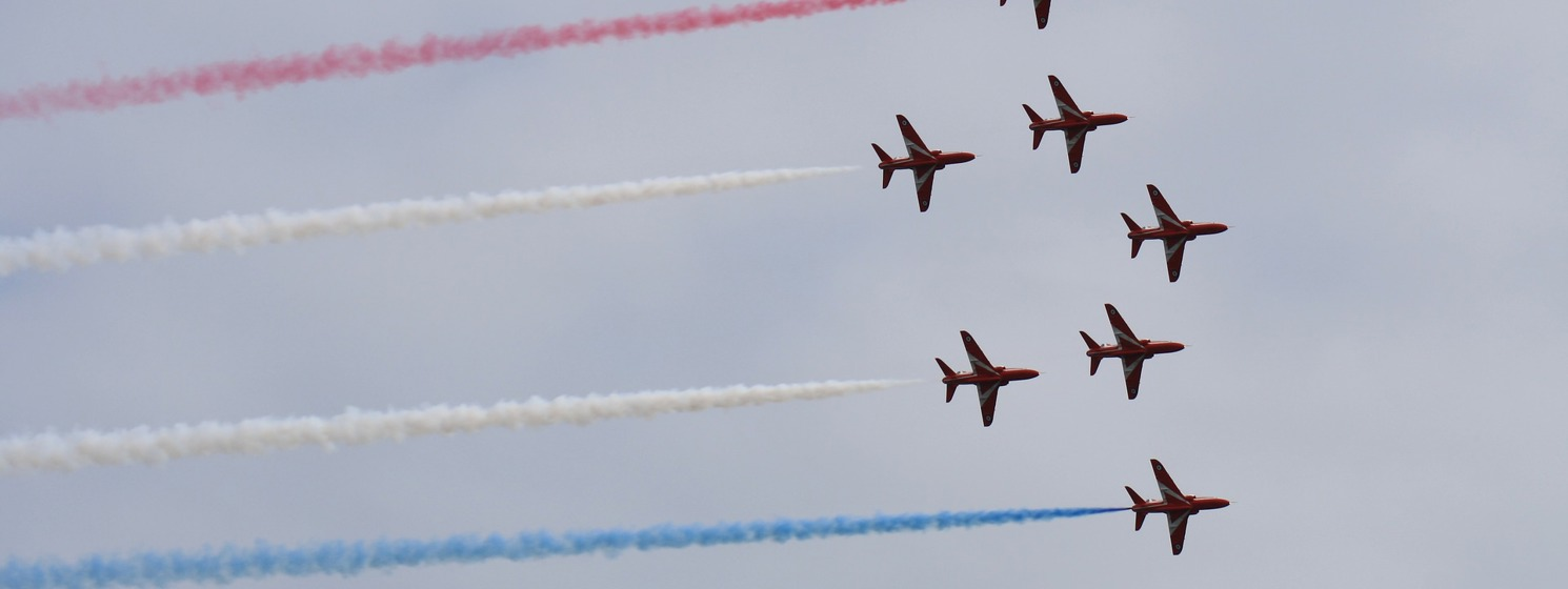 Bishop Christopher holds the Red Arrows and wider RAF family in prayer