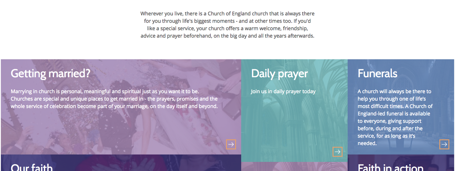 Need help in using A Church Near You?