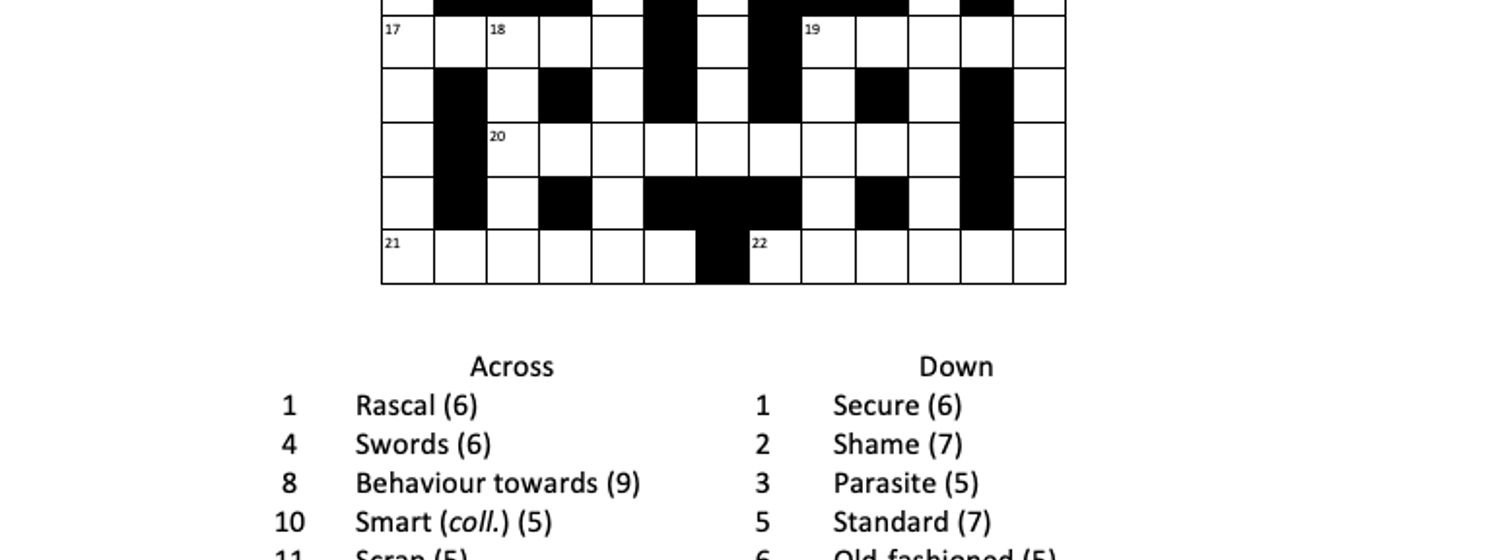 A new concise crossword to enjoy - March 2021