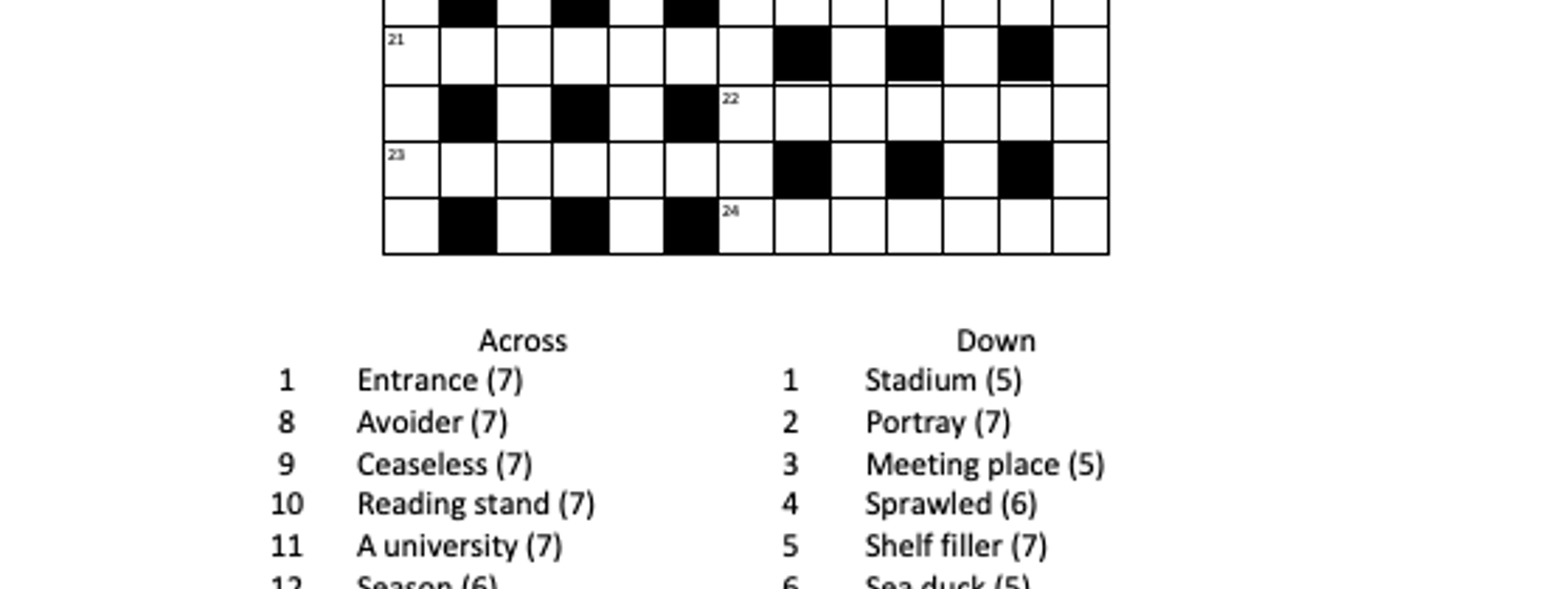 A new concise crossword (February 2021)